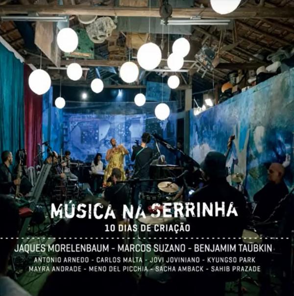 Foto: MUSICA NA SERRINHA -  Benjamim Taubkin, Jaques Morelembaum e Marcos Suzano